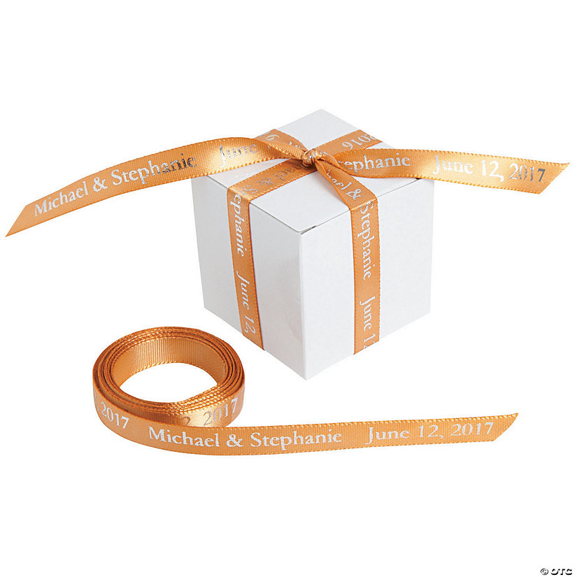 "Gold Personalized Ribbon - 3/8"" Image Thumbnail"