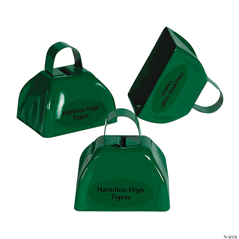 Green Personalized Cowbells Image Thumbnail
