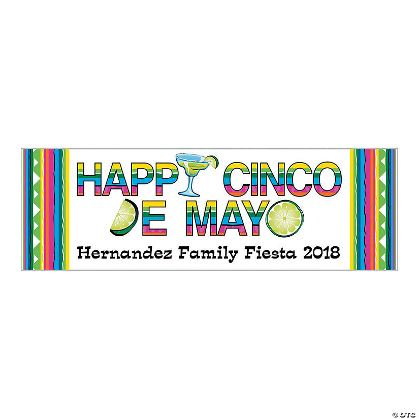 Happy Cinco de Mayo Party Custom Banner - Medium Image Thumbnail