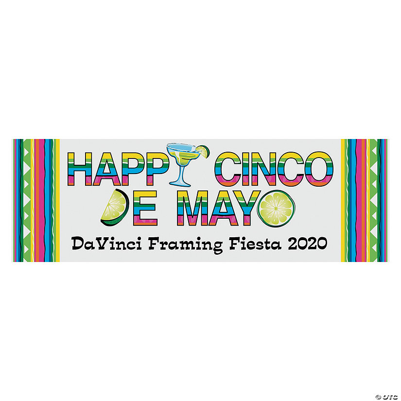 Happy Cinco de Mayo Party Custom Banner - Small Image Thumbnail