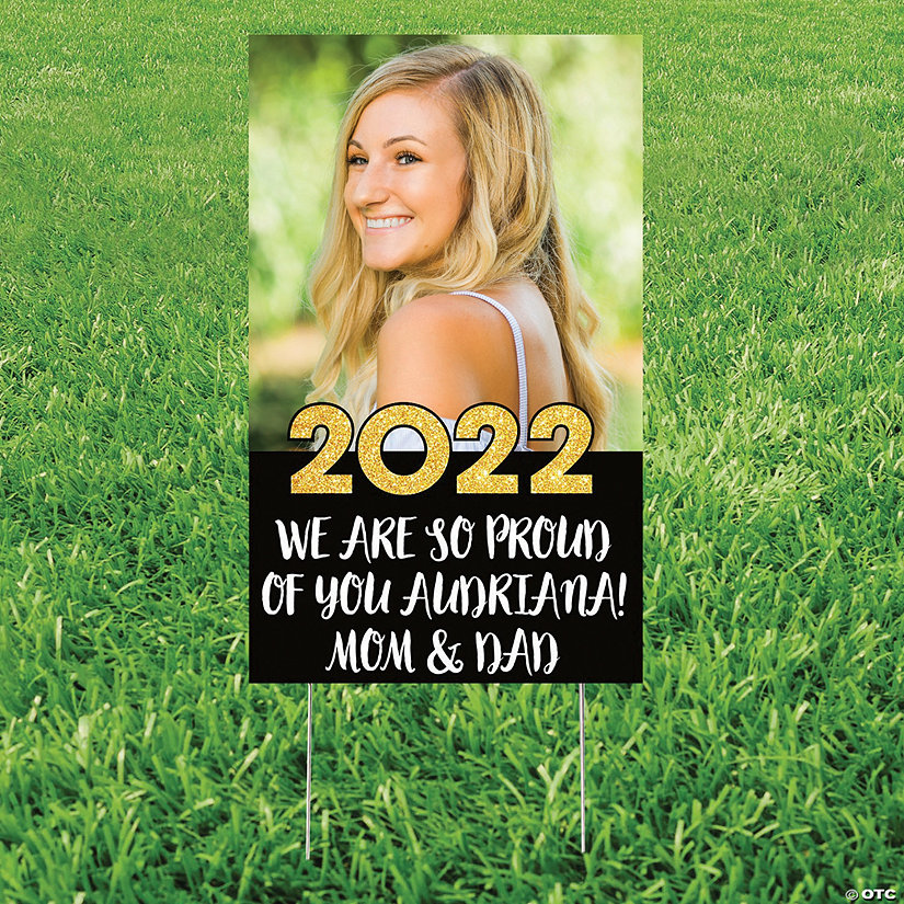 Large Vertical Custom Photo Grad Yard Sign Image Thumbnail