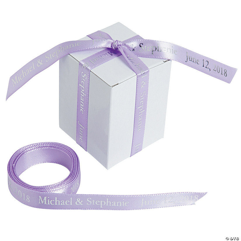 "Lavender Personalized Ribbon - 3/8"" Image Thumbnail"
