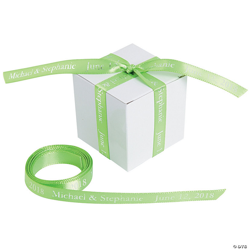"Lime Green Personalized Ribbon - 3/8"" Image Thumbnail"