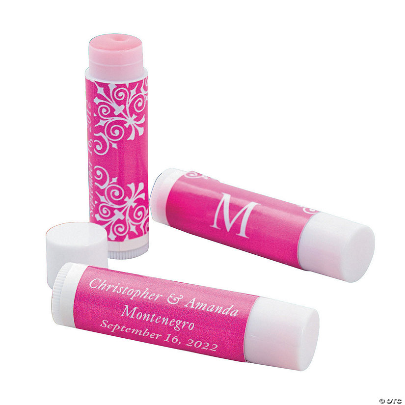 Monogrammed Wedding Lip Covers Image Thumbnail