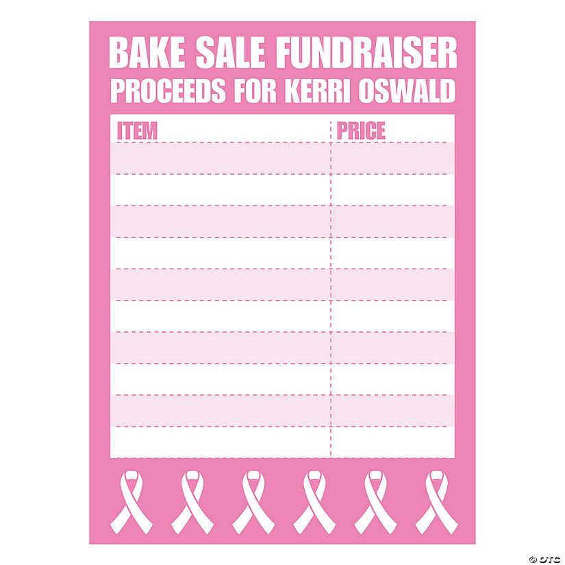 Personalized Awareness Fundraising Price Board Sign Image Thumbnail