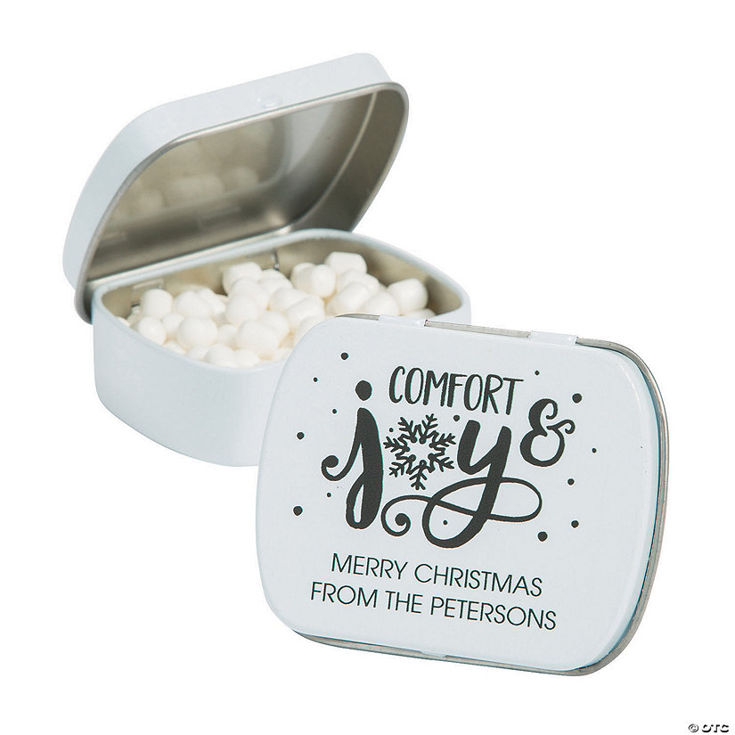 Personalized Bold Christmas Mint Tins Image Thumbnail