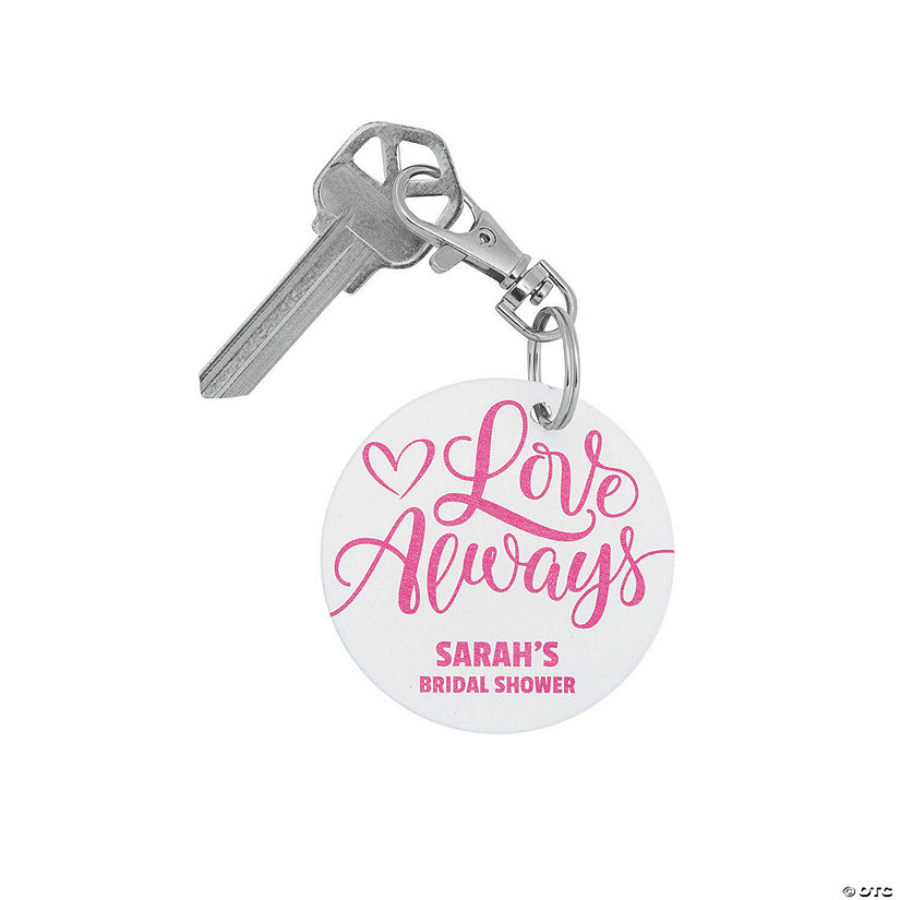 Personalized Bridal Shower Keychain Image Thumbnail