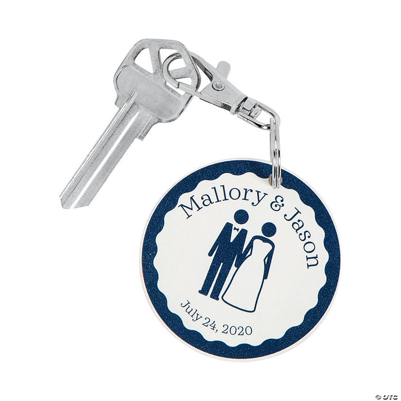 Personalized Bride & Groom Keychains Image Thumbnail