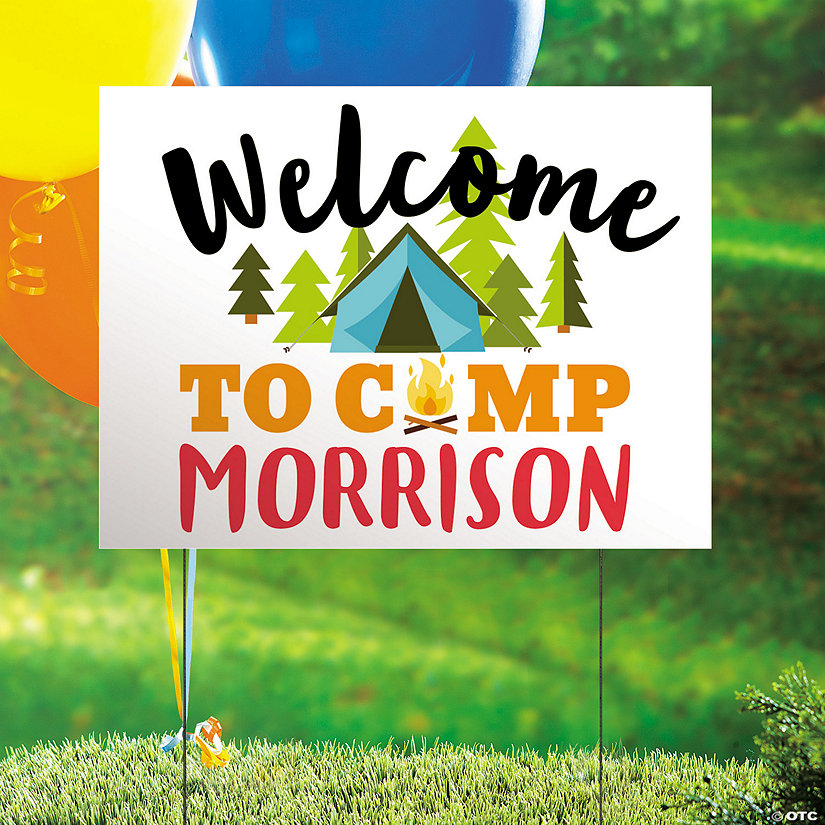 Personalized Camp Party Yard Sign Image Thumbnail