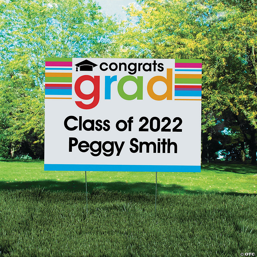 Personalized Cheers To the Grad Yard Sign Image Thumbnail