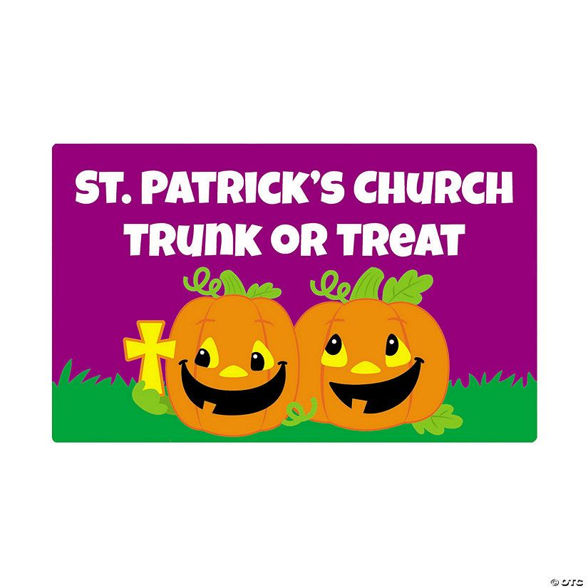Personalized Christian Pumpkin Favor Stickers Image Thumbnail