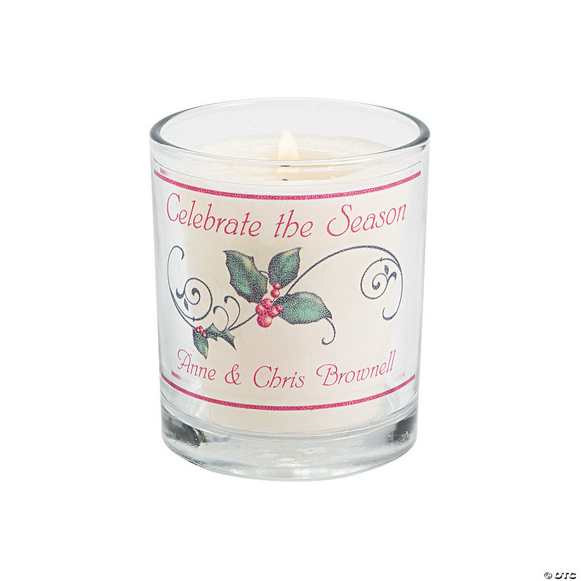 Personalized Christmas Votive Candle Holders Image Thumbnail