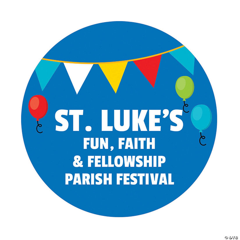 Personalized Church Carnival Favor Stickers Image Thumbnail