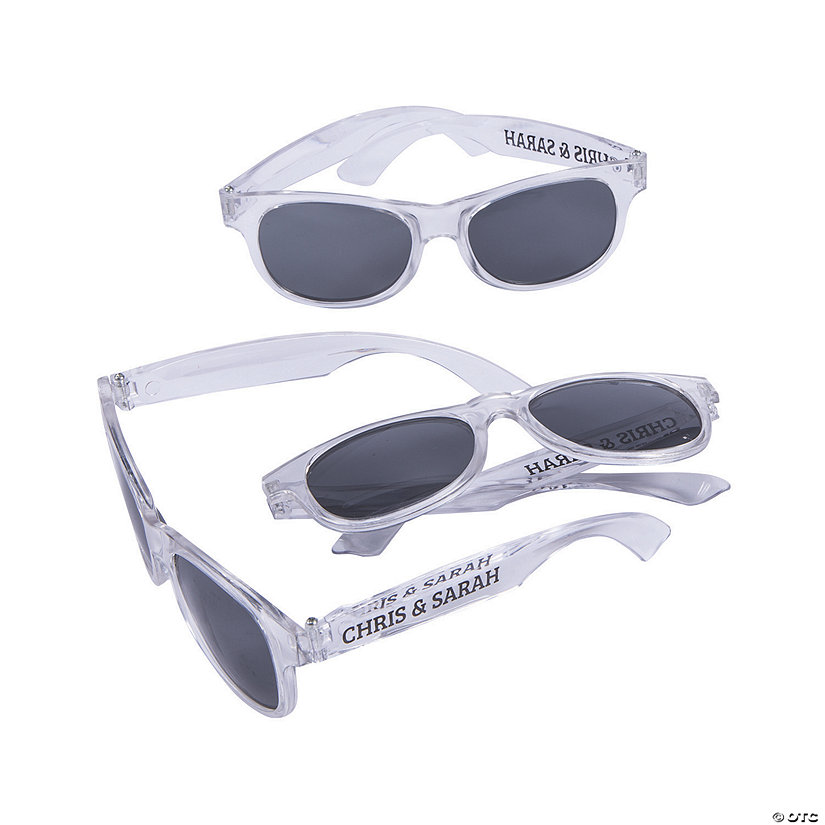 Personalized Clear Nomad Sunglasses Image Thumbnail
