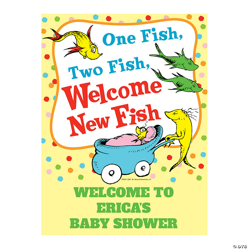 Personalized Dr. Seuss™ Baby Shower Welcome Sign Image Thumbnail