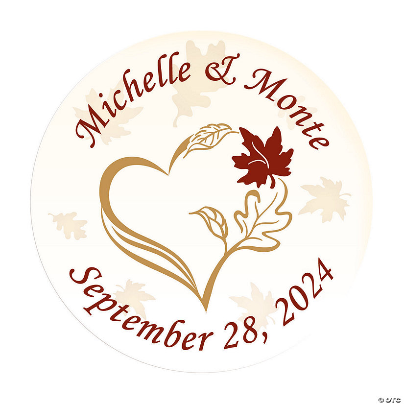 Personalized Fall Wedding Envelope Seals Image Thumbnail