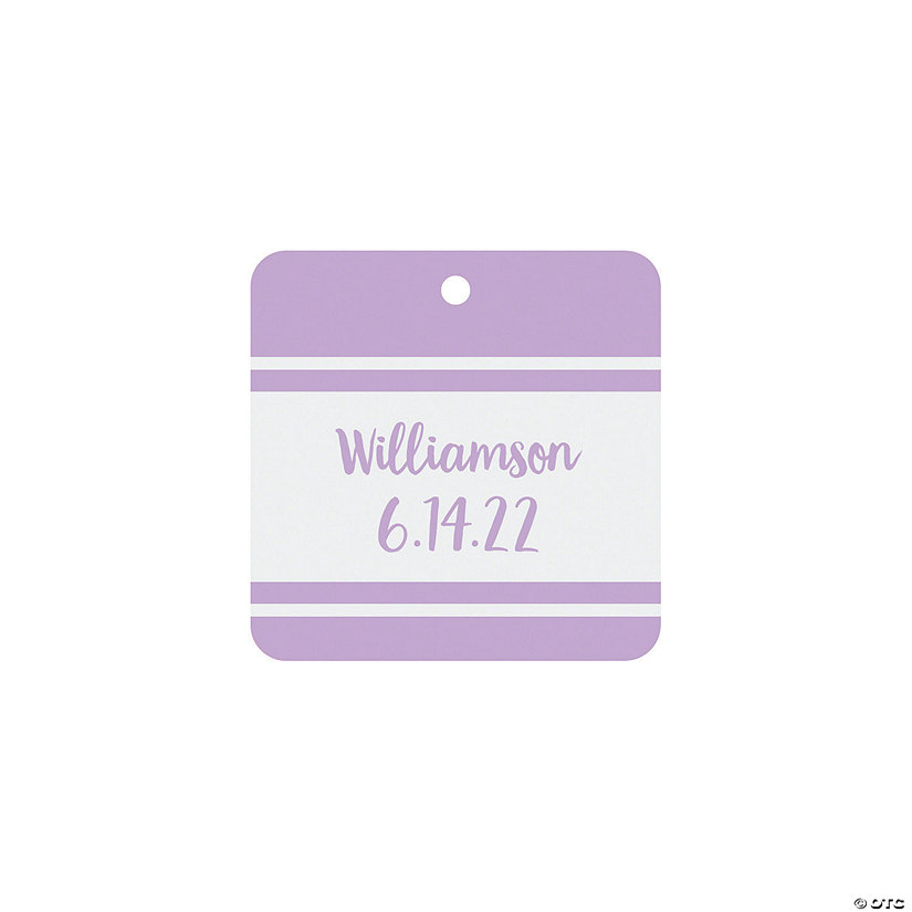 Personalized Family Name Favor Tags Image Thumbnail