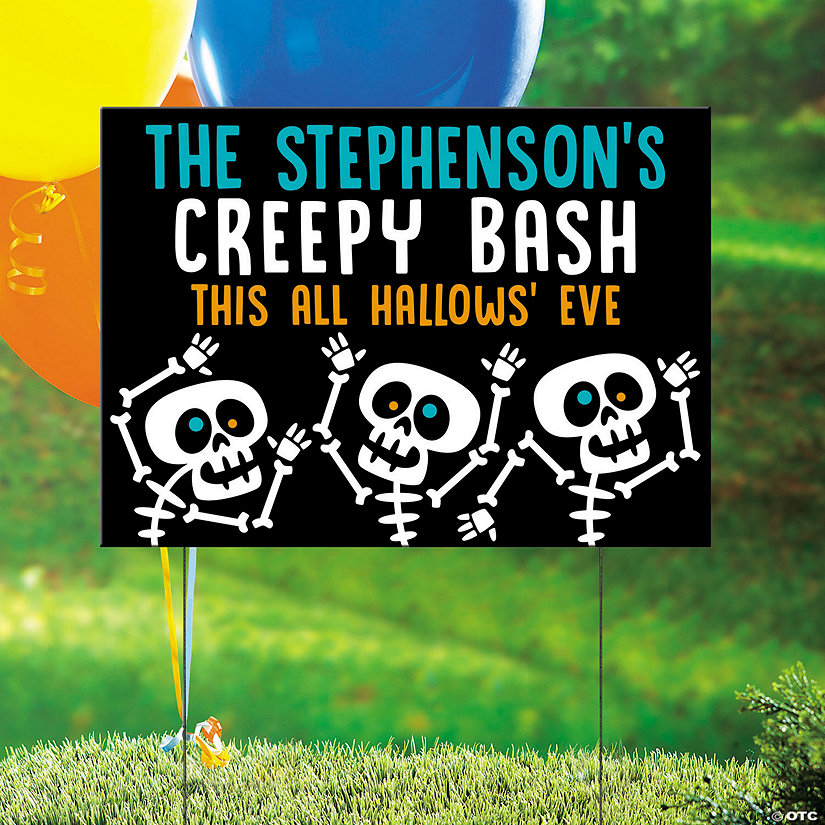 Personalized Goofy Ghouls Yard Sign Halloween Decoration Image Thumbnail