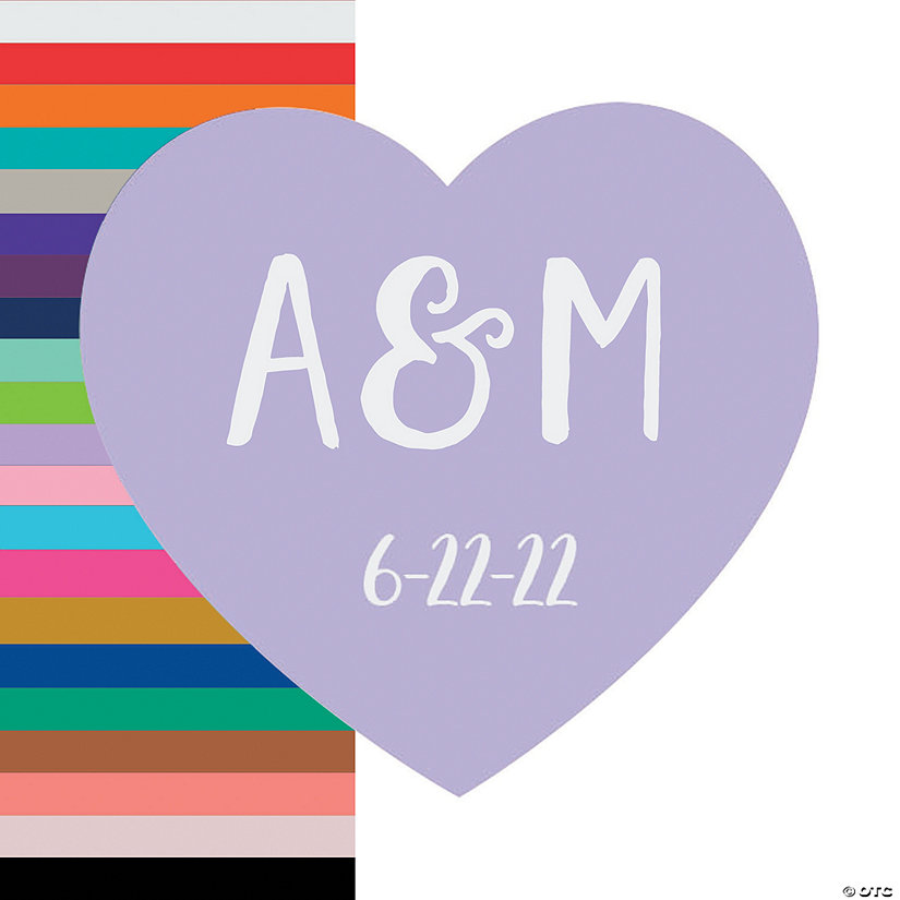 Personalized Heart-Shaped Initial Stickers Image Thumbnail