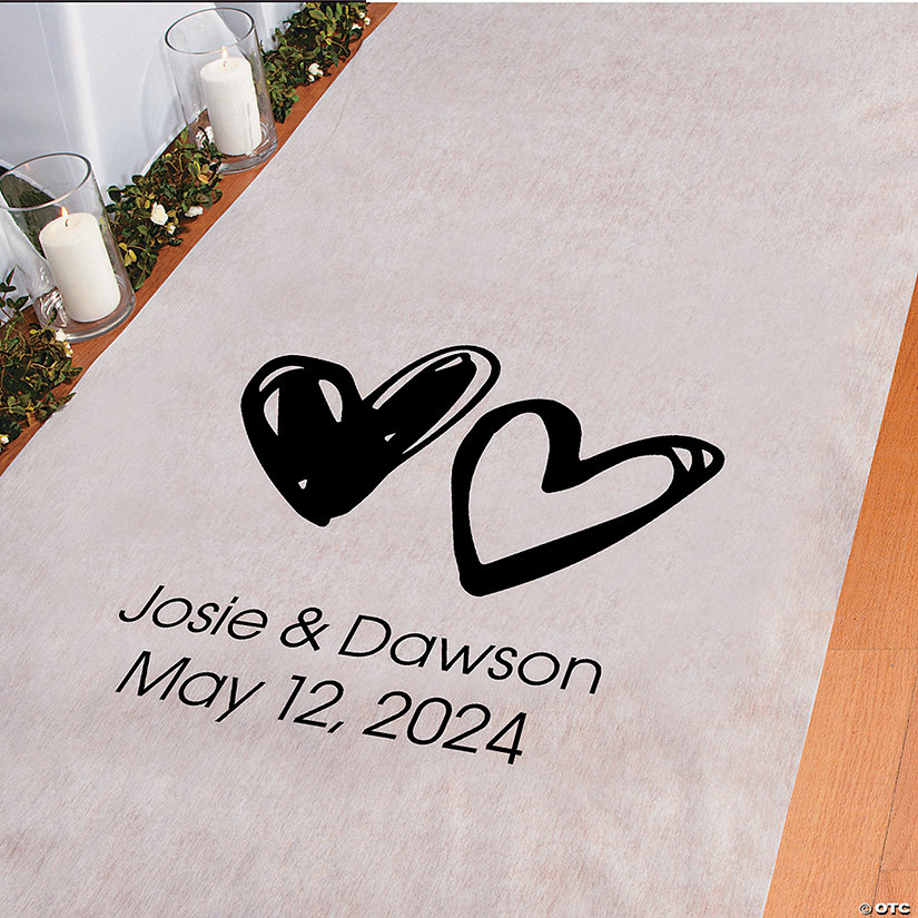 Personalized Hearts Aisle Runner Image Thumbnail