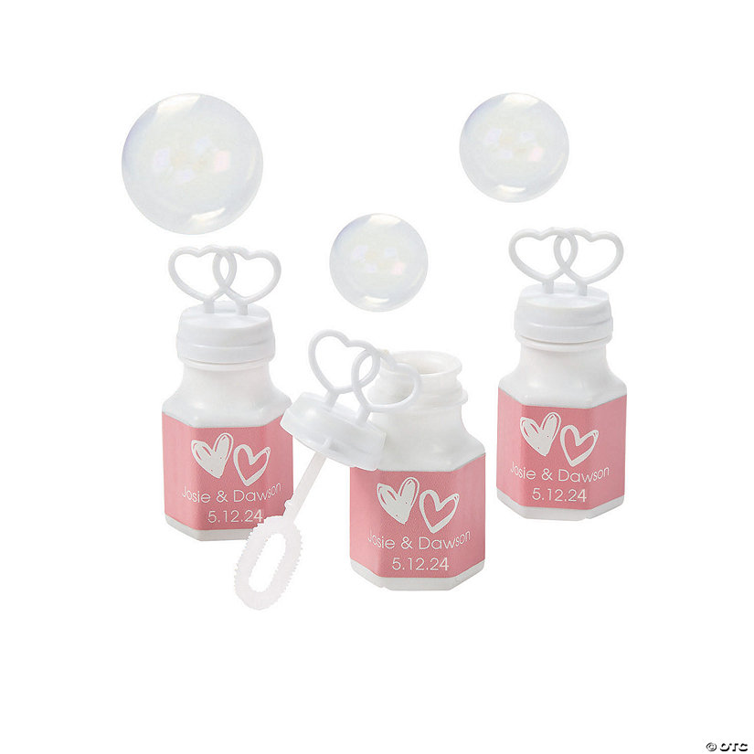 Personalized Hearts Bubble Bottles Image Thumbnail