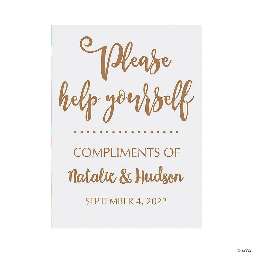 Personalized Help Yourself Wedding Sign Image Thumbnail