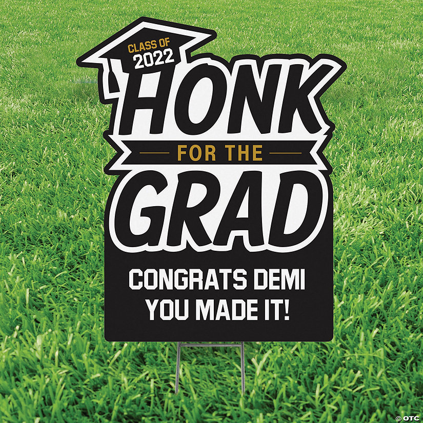 Personalized Honk for the Grad Yard Sign Image Thumbnail