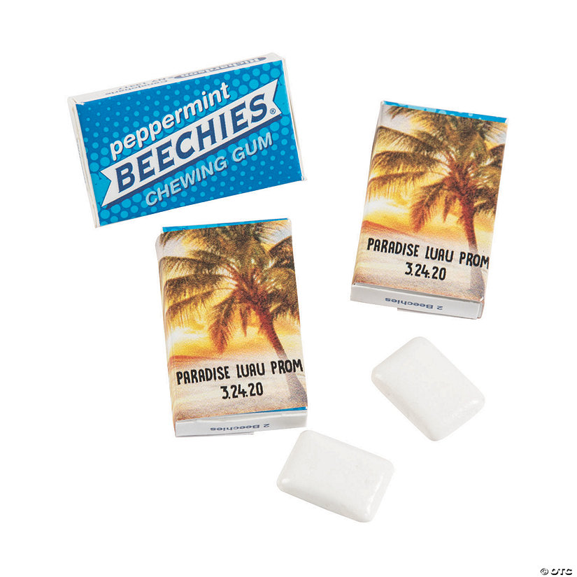 Personalized Island Luau Beechies<sup>&#174;</sup> Gum Image Thumbnail