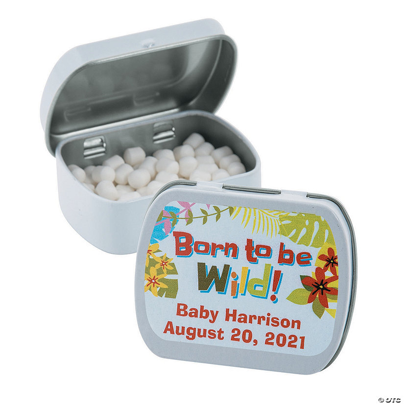Personalized Jungle Baby Shower Mint Tins Image Thumbnail