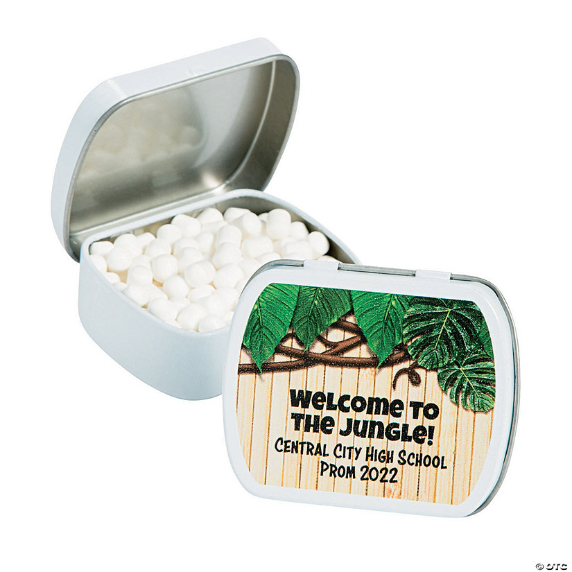 Personalized Jungle Mint Tins Image Thumbnail