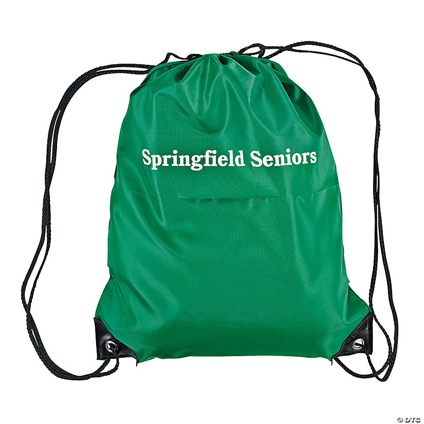 Personalized Large Green Drawstring Bags Image Thumbnail
