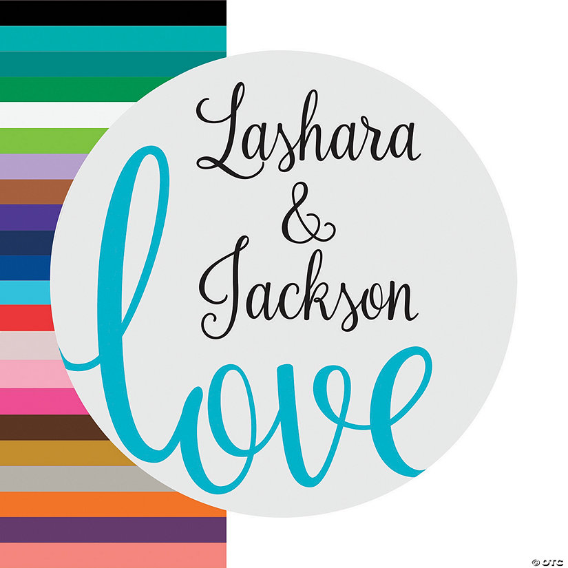 Personalized Love Script Favor Stickers Image Thumbnail