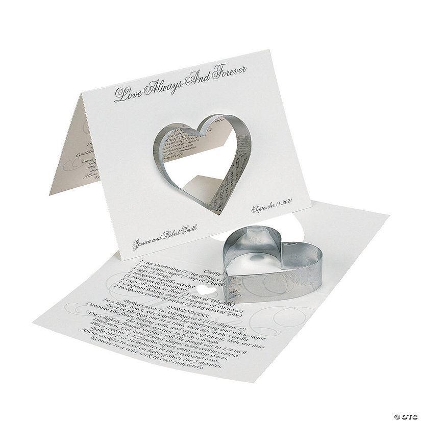 Personalized Love Wedding Cookie Cutters with Card Image Thumbnail