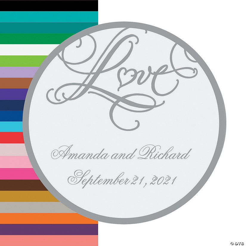 "Personalized ""Love"" Wedding Favor Stickers Image Thumbnail"