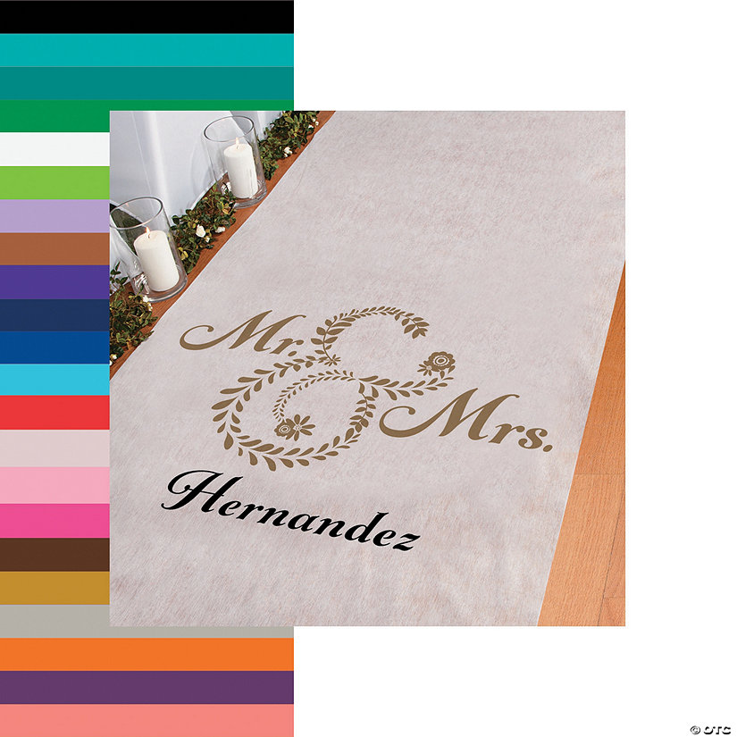 Personalized Mr. & Mrs. Aisle Runner Image Thumbnail