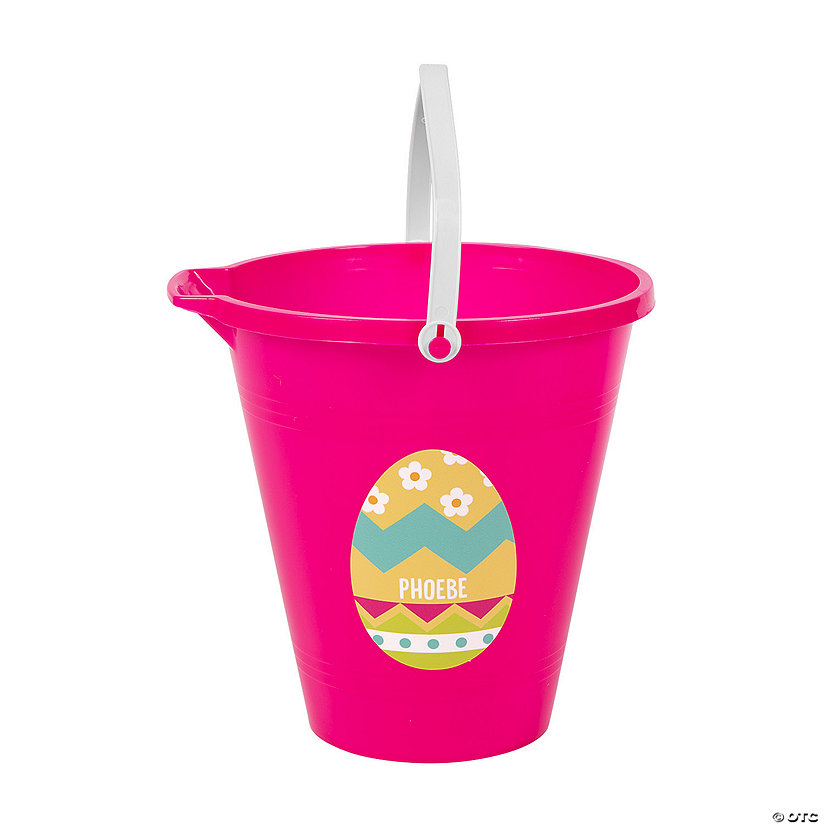 Personalized Pink Easter Sand Bucket Image Thumbnail