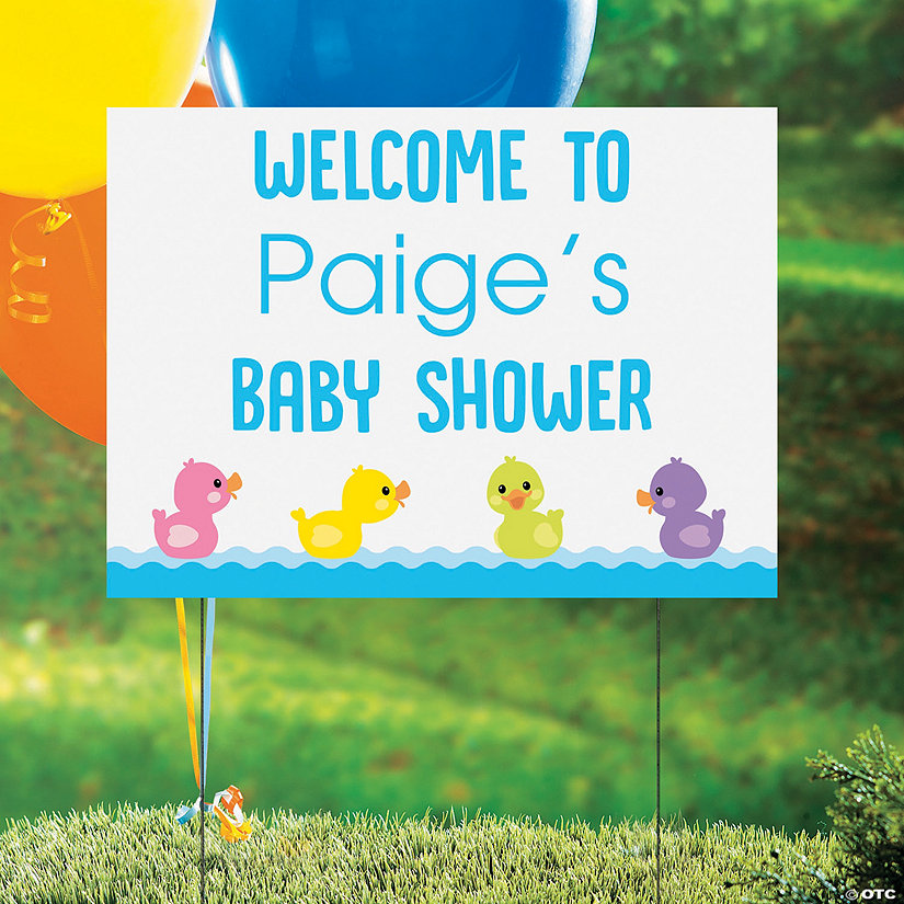 Personalized Rubber Ducky Vinyl Yard Sign Image Thumbnail
