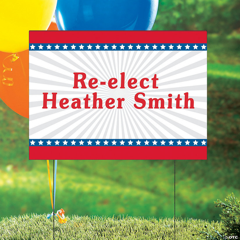 Personalized Stars & Stripes Yard Sign Image Thumbnail