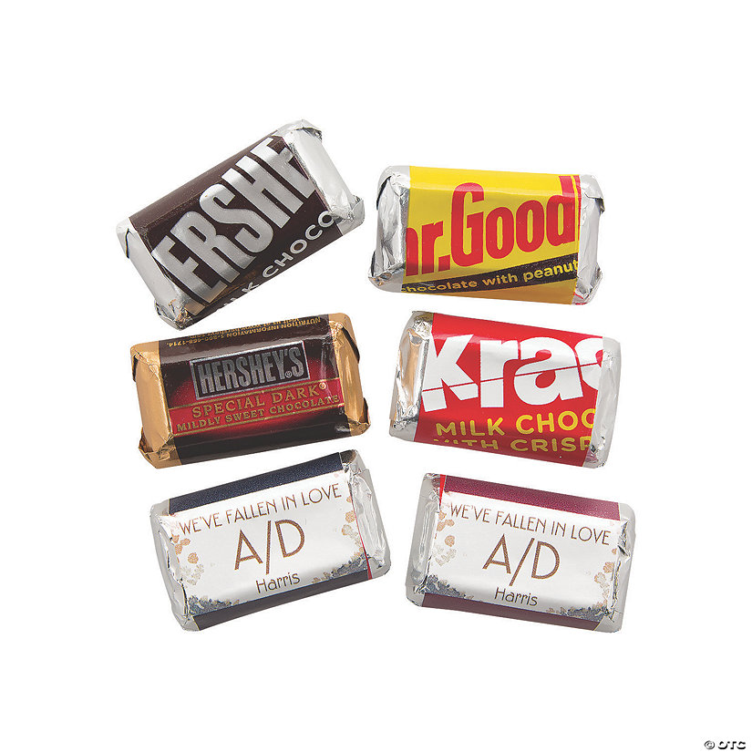Personalized Sweet Fall Mini Candy Bar Sticker Labels Image Thumbnail