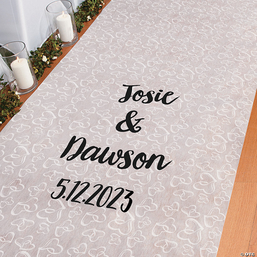 Personalized Two Hearts Aisle Runner Image Thumbnail