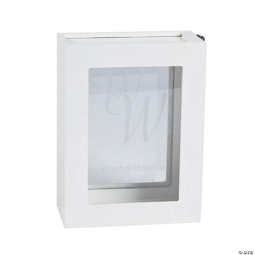 Personalized White Guest Book Shadow Box Frame Image Thumbnail