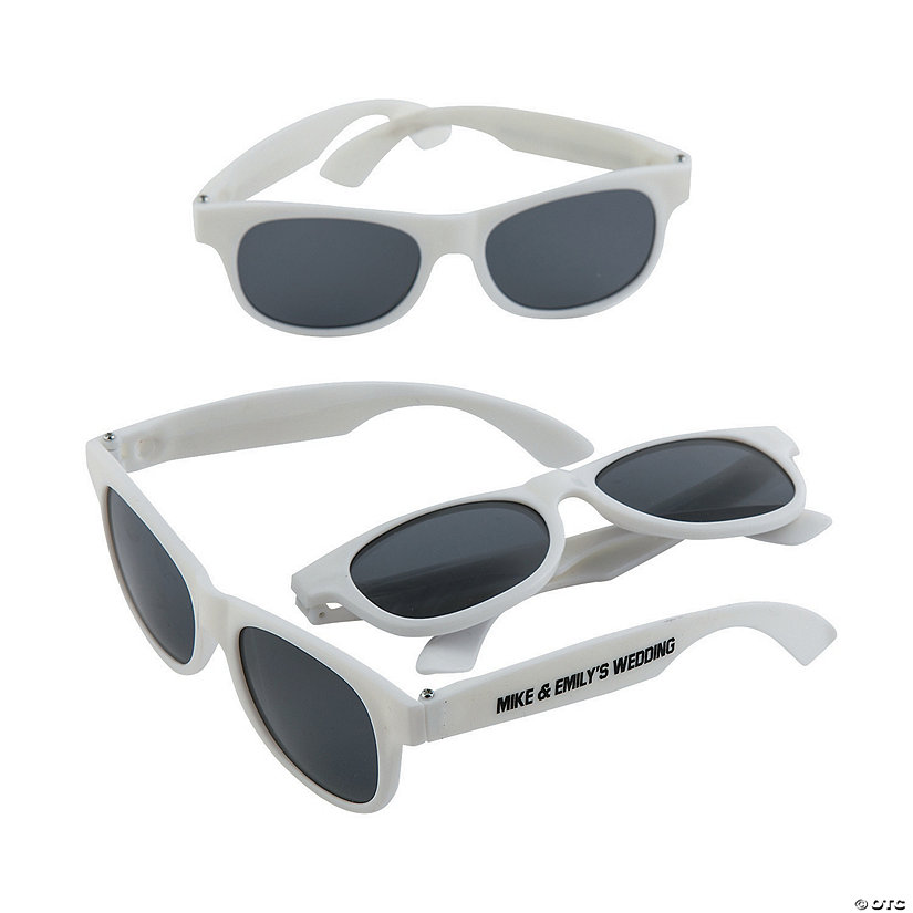 Personalized White Nomad Sunglasses