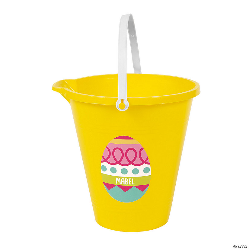 Personalized Yellow Easter Sand Bucket Image Thumbnail