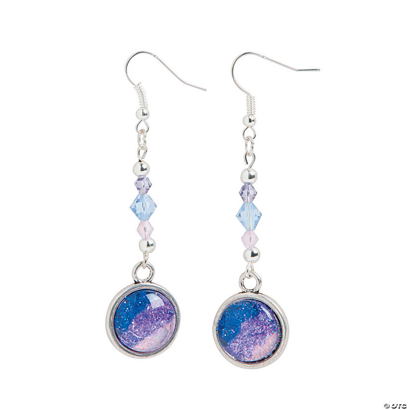 Photo Bead Glitter Earrings Idea Image Thumbnail