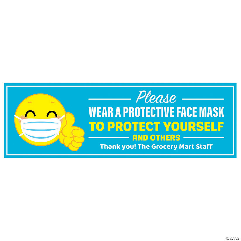 Please Wear a Face Mask Custom Banner - Large Image Thumbnail