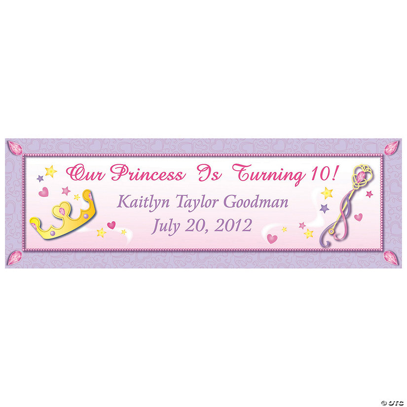 Princess Party Custom Banner - Small Image Thumbnail