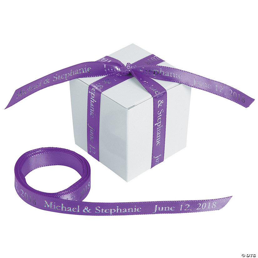 "Purple Personalized Ribbon - 3/8"" Image Thumbnail"