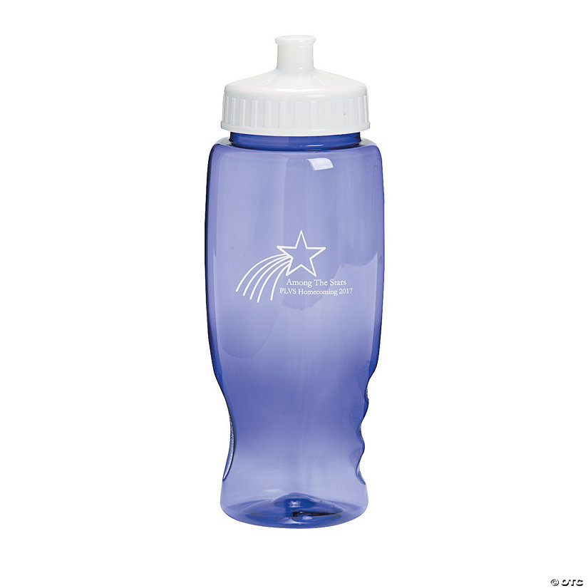 Purple Shooting Star Personalized Plastic Water Bottles Image Thumbnail