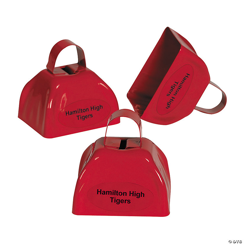 Red Personalized Cowbells Image Thumbnail