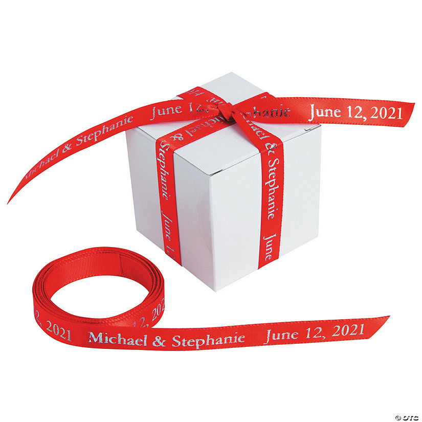 "Red Personalized Ribbon - 3/8"" Image Thumbnail"